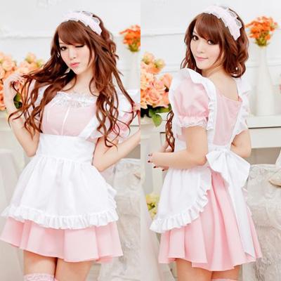 ピンクメイド服